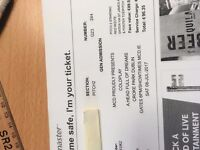 1 Coldplay Standing PITCH 2 ticket 8th July Croke Park Dublin