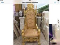 Fabulous tall chair throne