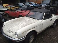 Triumph Spitfire or GT6 ( also herald or vitesse ) WANTED - Cash Waiting - Absolutely any condition.