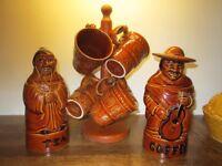 Vintage tea coffee storage jars and mugs