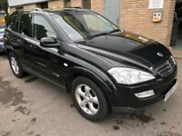 Ssangyong kyron 2.0L diesel automatic 4x4 black
