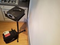 ADI pjt-220 projector,stand,screen