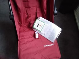 Brand new Mothercare pushchair with raincover