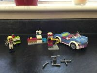Lego friends car and petrol station