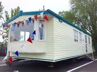 Cheap 2 bed Double Glazed & Heated & FREE 2017 & 2018 site fee static caravan @Seawick clacton essex