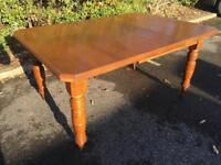 Antique solid oak extending dining table . Possible Delivery