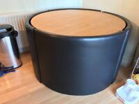 Round stowaway table and chairs