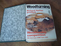 WOODTURNING MAGAZINES AND BINDER