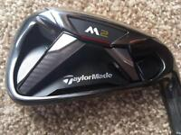 Nearly New Men's TaylorMade M2 irons. 7 Clubs, 5 iron - SW.
