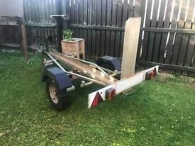 Single motorbike trailer