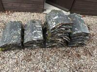 Used clay ridge tile roof black