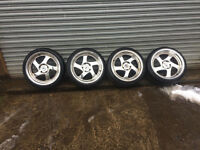 """Japan Racing JR15 alloys with tyres 17"""" 5x114 honda civic ep3 type r ep2"""