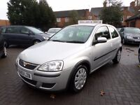 Vauxhall Corsa 1.0 i 12v Active 3dr, 53 reg (2003), silver, only 69,000 miles with service history