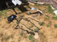 Motorcycle trailer and tie downs