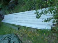 Box section roofing sheets