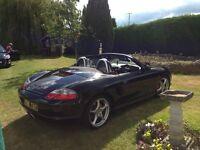 Stunning Black Porsche Boxster 2.7. Carrera kit, Bose sound system