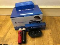 PlayStation VR with two move controllers and accessories