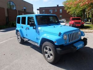 2017 Jeep WRANGLER UNLIMITED 4WD 4dr NAV HITCH DÉMARREUR 2 TOITS