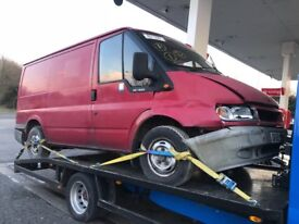 Ford transit mk6 breaking