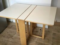 White Folding dining table