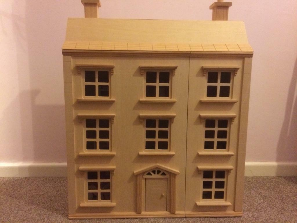 Wooden Dolls House With Furniture In Hazel Grove Manchester