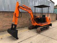 Hitachi ue30 digger, 3 ton, diesel, metal tracks
