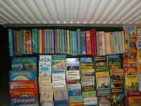 Extensive collection of non-fiction and fiction books for sale.