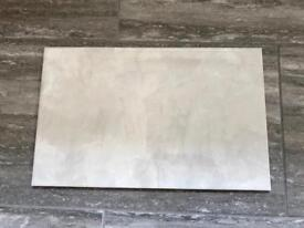 Ceramic tiles light grey gloss 9 square metres