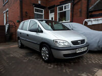 Vauxhall Zafira 1.6 petrol 02 manual in silver spares or repairs mot untill end of January