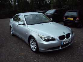 BMW 5 SERIES 520d SE 2.0 DIESEL 4 DR SALOON 6 SPEED F.S.H+MOT SCREEN I DRIVE AUX BLUETOOTH EXTRAS...