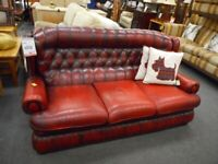 Red Chesterfield 3 Seater Sofa