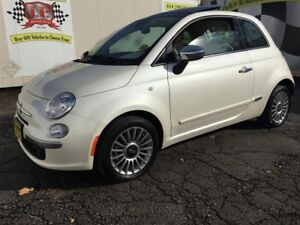 2012 Fiat 500 Lounge, Automatic, Leather, Sunroof, Only 6, 000km