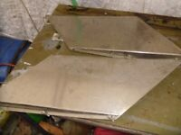 boat parts 2 stainless steel boat heat shields