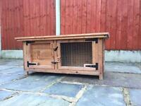 Rabbit and Guinea Pig hutch with steel run.