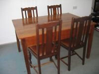 OAK TABLE AND 4 CHAIRS FOR SALE