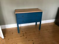 Vintage Oak painted sideboard or chest of drawers