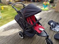 Phil & Teds Dot / Doubles Kit / Cabrio Car Seat / Snug Carrycot / Face to Face