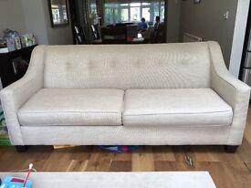 3 seater sofa beige good condition