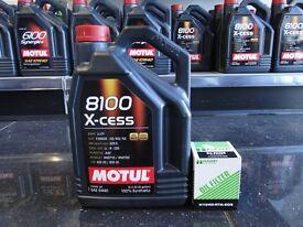 Motul 8100 5w40 Excess with Hamp Filter for all Honda's Civic Crx Integra Nsx Type R Vtec b16 K20