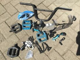 BMX BIKE 🏍 PARTS being sold as a bundle for 1 price. All shown in photo thanks. NOW REDUCED AGAIN.
