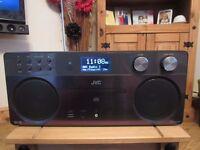JVC RD-D90 Wireless Flat Panel Hi-Fi System Bluetooth CD player DAB/FM tuner