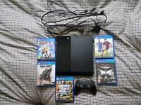 Sony Playstation 4 - Jet Black - 500GB - Boxed - comes with 5 games