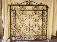 PAIR OF METAL SCROLLWORK GATES FOR 8FT DRIVEWAY