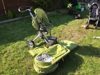 Stoke buggy with newborn attachments