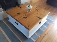 Large chest coffee table. Opens both sides for great storage