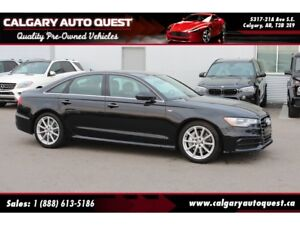 2015 Audi A6 3.0T Technik S-LINE/AWD/NAVI/LEATHER/ROOF