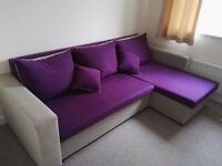 Three seater corner sofa / sofa bed with storage