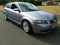 Audi A3 Sport FSI 2.0L petrol mot 19 lowered lovely car thru out driving perfect no faults.