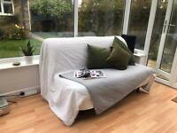 Free - Futon Double Sofa Bed, Mattress & Cover