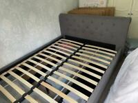 Argos Home Newbury 2 Drawer Kingsize Bed Frame – Grey Excellent Condition